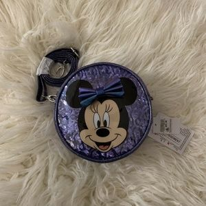 Disney Parks Minnie Mouse Purple Crossbody Bag